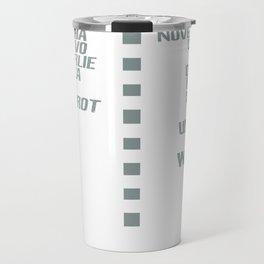 Airplane pilot phonetic alphabet Travel Mug