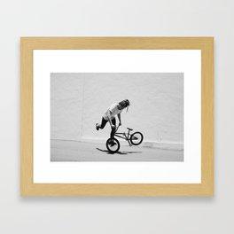 Flatland BMX Rider Framed Art Print