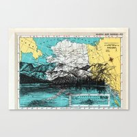 alaska Canvas Prints featuring Alaska by Ursula Rodgers