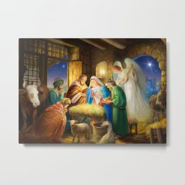 Nativity, holy night Metal Print