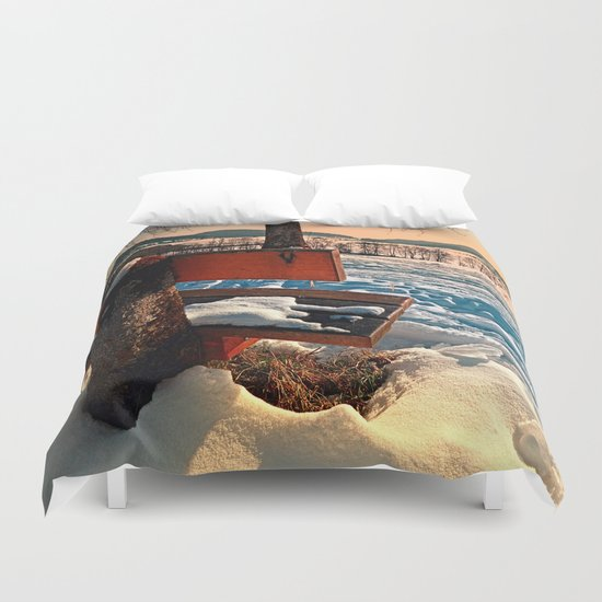 View into winter scenery Duvet Cover