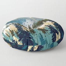 Misty Pines Floor Pillow