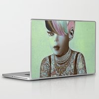 barbie Laptop & iPad Skins featuring BARBIE ILLUSTRATED by Julia Lillard Art