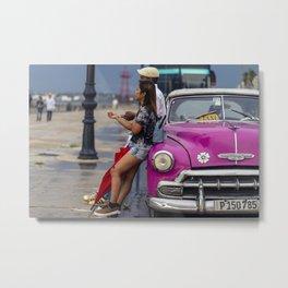 Classic Cars of Cuba Metal Print