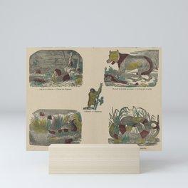 Verschillende wilde dieren   Divers animaux sauvages, Deberny, 1800 - 1833 Mini Art Print
