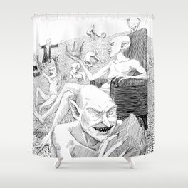 Goblin Hoard Shower Curtain