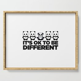 Okay To Be Different Panda Serving Tray