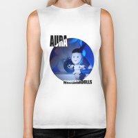 artrave Biker Tanks featuring AURA ARTRAVE by Sergiomonster