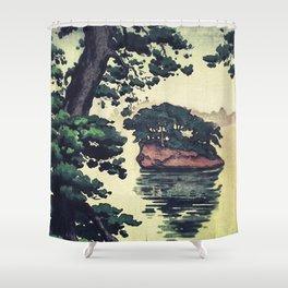 Autumn Rain in Yama Shower Curtain