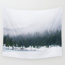 Evergreen Winter Forest (Color) Wall Tapestry