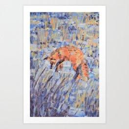 Hunting Fox Art Print