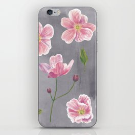 Japanese Anemone Flower Painting iPhone Skin