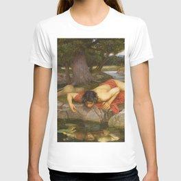 John William Waterhouse - Echo and Narcissus T-shirt