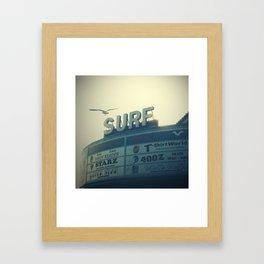 Ocean City Surf Mall Framed Art Print