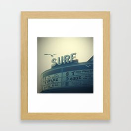 Ocean City Surf Mall Framed Art Print