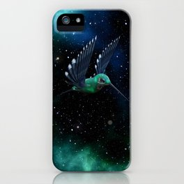Space Hummingbird iPhone Case