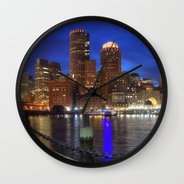 Bright Lights Boston Wall Clock