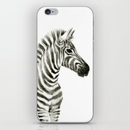 Zebra Watercolor Baby Animals iPhone Skin