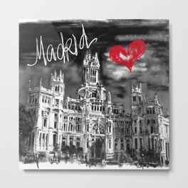 I love Madrid Metal Print
