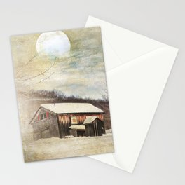 Blissful Winter Farm Stationery Cards