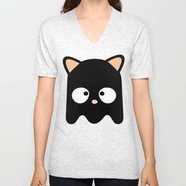 Cat as Pacman Unisex V-Neck