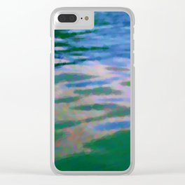 Lakeside abstract Clear iPhone Case