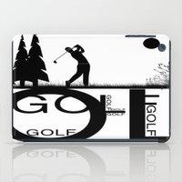 golf iPad Cases featuring Golf, golf, golf! b&w by South43