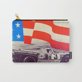 Vintage USA Racing Poster Carry-All Pouch