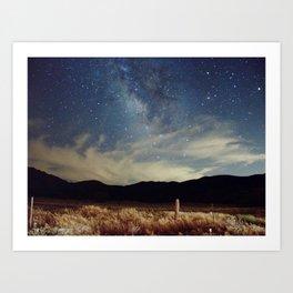 Night Sky Landscape Photography Stars Sky Art Print