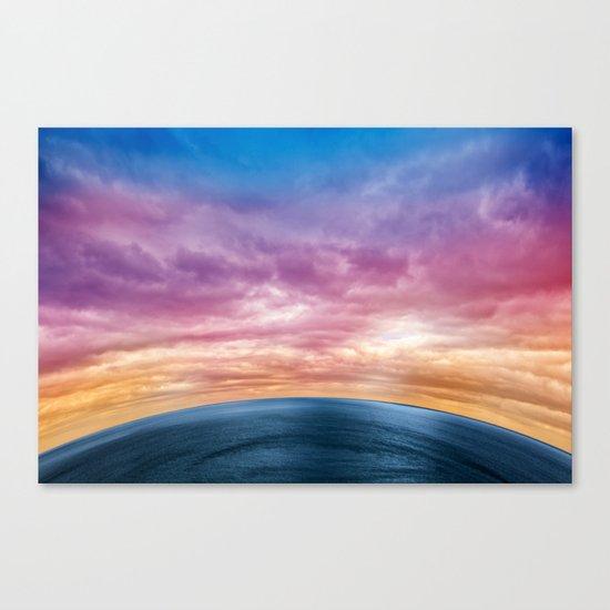 Rainbow Planet Canvas Print