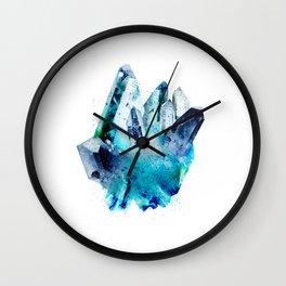 Watercolor Gemstone Wall Clock