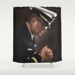 Upon My Knees (LTJG) Shower Curtain