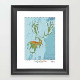 Cervidae - Land of the Deer Framed Art Print