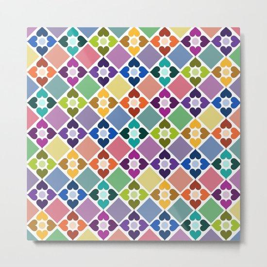 Colorful Floral Pattern II Metal Print