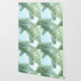 Nature photography tropical vibe vintage palm leaf II Wallpaper