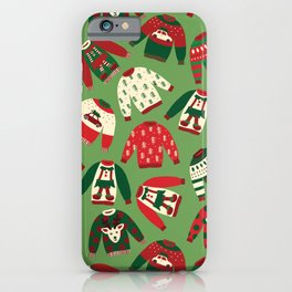 Ugly Christmas Sweaters Pattern iPhone Case