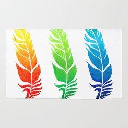Rainbow Feathers Rug