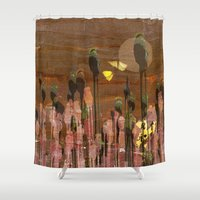 poppies Shower Curtains featuring Poppies by dominiquelandau