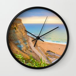 cliffs ericeira surf Wall Clock