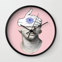 FACE of the YOUTH / Marble statue head Wall Clock