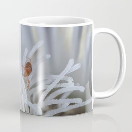 Clover Mite on a clematis Coffee Mug