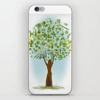 tree of life iPhone & iPod Skins featuring Life tree by Michelle Behar