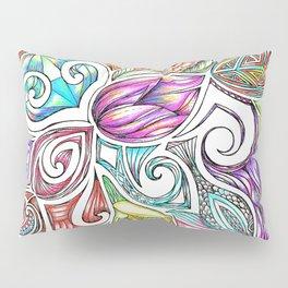 Lotus Maori Huia Art Pillow Sham