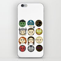 avenger iPhone & iPod Skins featuring Avenger Emojis :) by Jozi