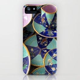 Wedgwood majolica Fan pattern iPhone Case
