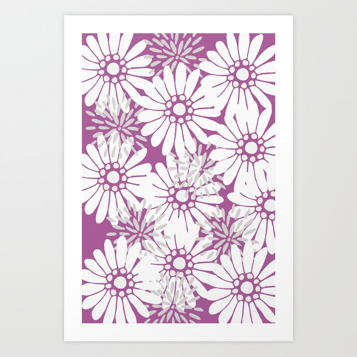 Summer Flowers Purple Art Print