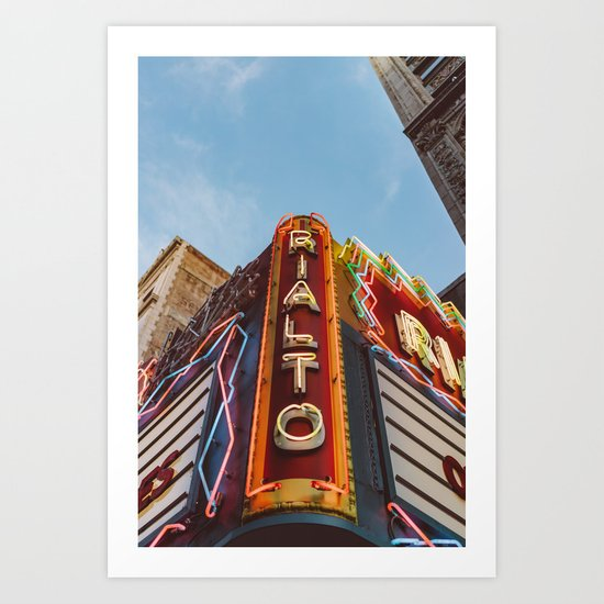 Los Angeles Rialto Theatre Art Print