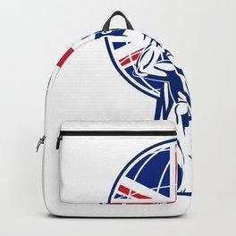 Atlas Carrying Globe British Union Jack Flag Backpack