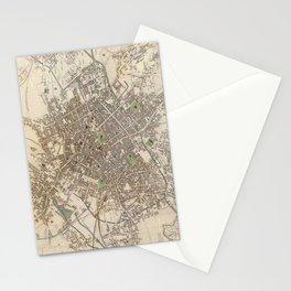 Vintage Map of Birmingham England (1839) Stationery Cards