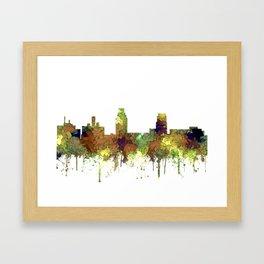 Camden, New Jersey Skyline SG Safari Buff Framed Art Print